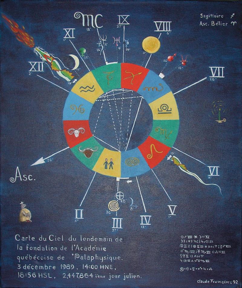Carte du ciel du lendemain de la fondation de l'AQP (Claude Frascadore)